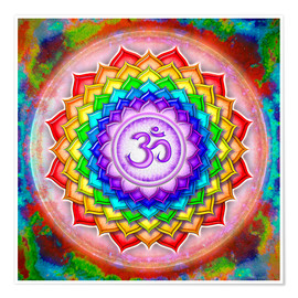 Premium poster The Crown Chakra Series V - rainbow colors