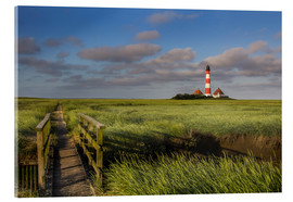 Acrylic print  Lighthouse in the salt marshes on the North Coast