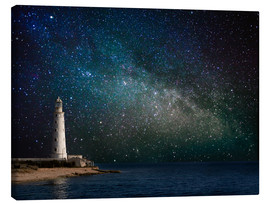 Canvas print  Lighthouse in starlight