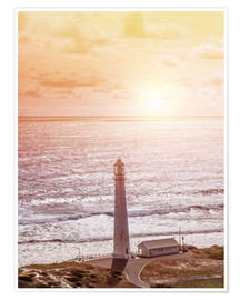 Premium poster  Morning glow at the lighthouse