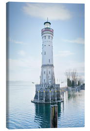 Canvas print  beautiful lighthouse at Lindau
