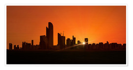 Premium poster Sunset in Abu Dhabi