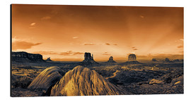 Aluminium print  Kelly Monument Valley - Michael Rucker