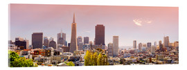 Acrylic glass  San Francisco Skyline Red - Michael Rucker