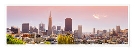 Premium poster  San Francisco Skyline Red - Michael Rucker