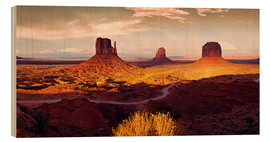 Wood print  Monument Valley Gold - Michael Rucker