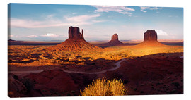 Canvas print  Monument Valley light - Michael Rucker
