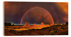 Wood print  Monument Valley Rainbow - Michael Rucker