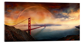 Acrylic print  Frisco Golden Gate Rainbow - Michael Rucker