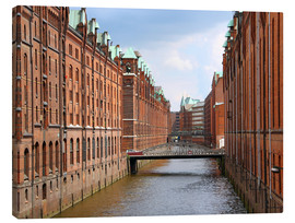 Canvas print  Speicherstadt of Hamburg