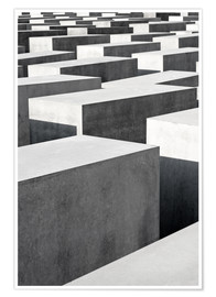 Premium poster  Holocaust Memorial in Berlin