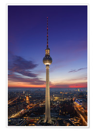 Premium poster  Berlin TV tower at night