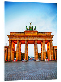 Acrylic glass  Brandenburg gate at sunrise