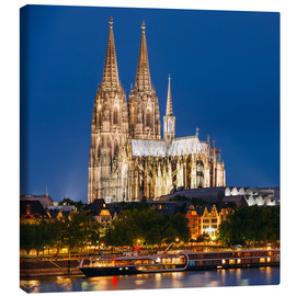 Canvas  Night view of Cologne Cathedral