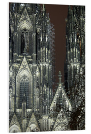 Foam board print  Detail of Cologne Cathedral