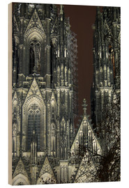Wood print  Detail of Cologne Cathedral