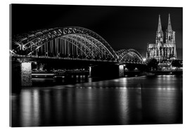 Acrylic print  Cologne Cathedral and bridge