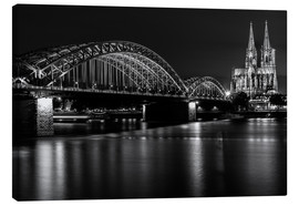 Canvas  Cologne Cathedral and bridge