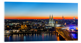 Acrylic print  Colorful Cologne skyline at night