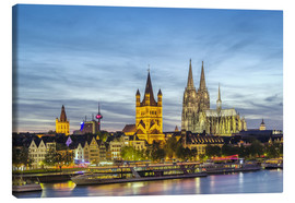 Canvas print  Overlooking the historic center of Cologne