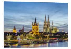 Foam board print  Overlooking the historic center of Cologne