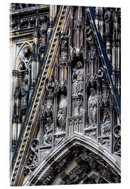 Acrylic print  Facades detail at Cologne Cathedral