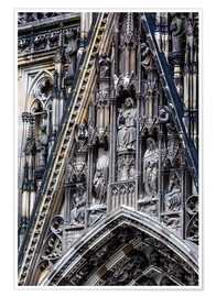 Premium poster  Facades detail at Cologne Cathedral