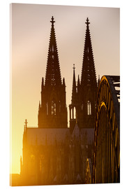 Acrylic glass  Sunset behind the Cologne Cathedral