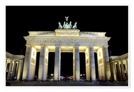 Premium poster  Brandenburg Gate in Berlin by night