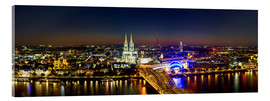 Acrylic glass  A panoramic view of cologne at night