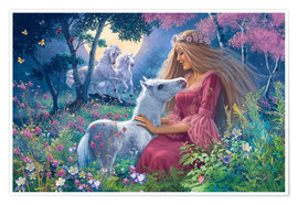 Premium poster  Princess with foal - Steve Read