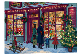 Acrylic glass  Toy Shop at Christmas - Steve Read