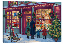 Canvas print  Toy Shop at Christmas - Steve Read
