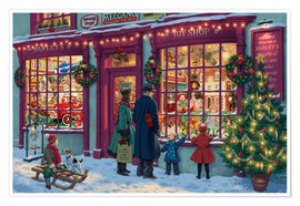 Premium poster Toy Shop at Christmas