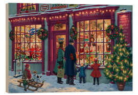 Wood print  Toy Shop at Christmas - Steve Read