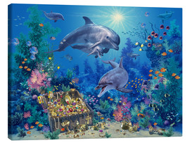 Canvas print  Dolphin Family - Steve Read