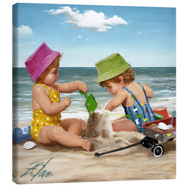 Canvas print  Our Little Sandcastle - Donald Zolan