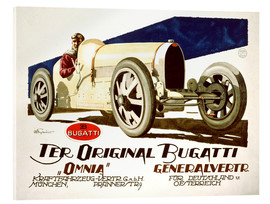 Acrylic print  The original Bugatti