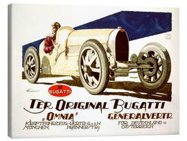 Canvas print  The original Bugatti (German)