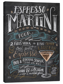 Canvas print  Espresso Martini recipe - Lily & Val