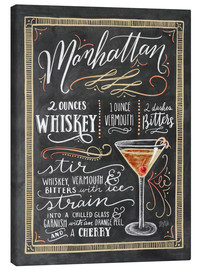 Canvas print  Manhattan recipe - Lily & Val
