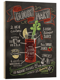 Wood print  Bloody Mary recipe - Lily & Val