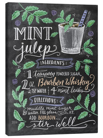 Canvas print  Mint Julep recipe - Lily & Val