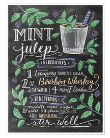 Premium poster  Mint Julep recipe - Lily & Val