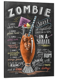 Aluminium print  Zombie Cocktail recipe - Lily & Val