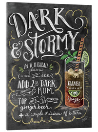 Acrylic print  Dark & Stormy cocktail recipe - Lily & Val