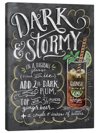 Canvas  Dark & Stormy Cocktail - Lily & Val