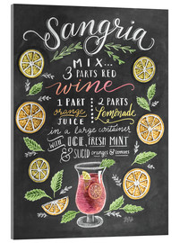 Acrylic print  Sangria recipe - Lily & Val