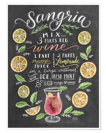 Poster  Sangria recipe - Lily & Val