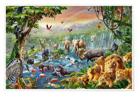 Premium poster Jungle River